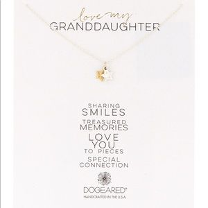"""Dogeared """"Love My Granddaughter"""" Charm Necklace"""